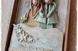 Zestaw ślubny w zieleni