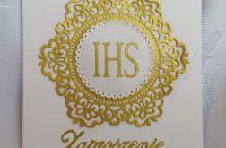 Zaproszenie I Komunia wzór 133