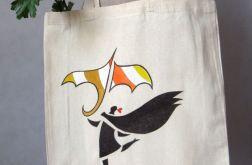 """Torba bawełniana malowana """"Kolorowy parasol"""""""