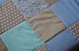 Patchwork - błękit, mięta, beż - 120x200