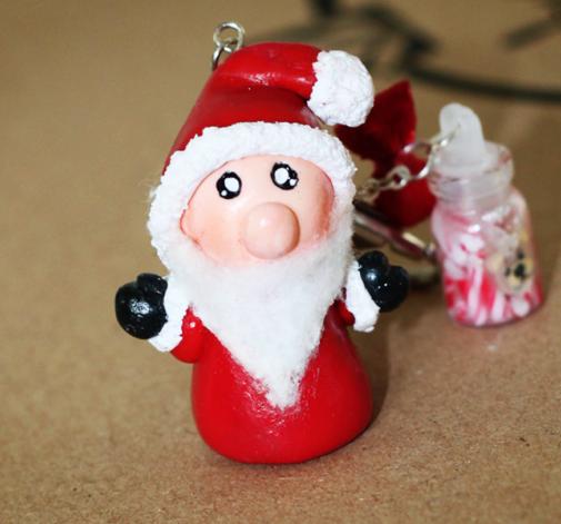 Świateczny breloczek: Mikołaj