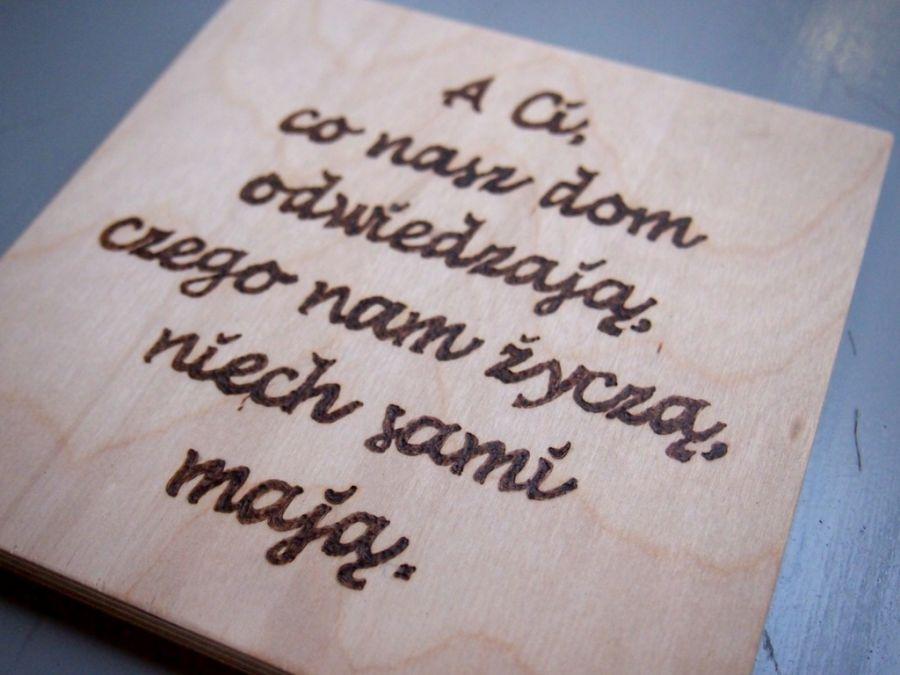 drewniany obrazek do przedpokoju - drewniany obrazek z twoim tekstem