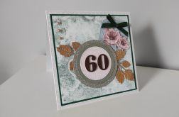 Kartka ręcznie robiona na urodziny 40, 50, 60