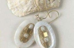 WYJĄTKOWE, pozłacane kolczyki z perłami