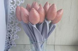 Tulipany glamour błyszczące róż Dzień Matki