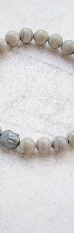 męska bransoletka :: buddha & jaspis pasiasty