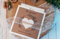 Rustykalna kartka na ślub - folder + wkład