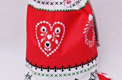 Świąteczny worek na prezenty worek prezentowy