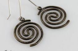 Spiralne - mosiężne kolczyki 210310-02