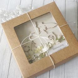 Kartka ślubna w pudełku - z jednośladem v.2