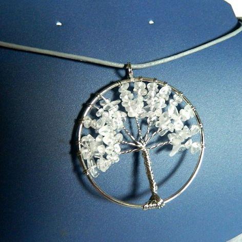 Drzewko szczęścia z kryształem, wire wrapping