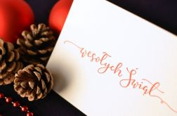 Ekskluzywne kartki świąteczne - 5 sztuk