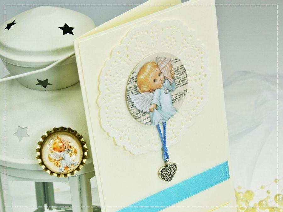 Little Angels- zaproszenia na Chrzest św. 3