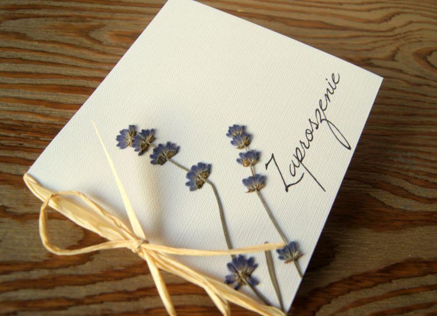 Prowansalskie zaproszenia ślubne lawenda - zaproszenia z prowansji