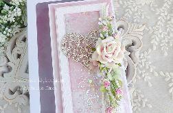Ślubna kartka w pudełku 316