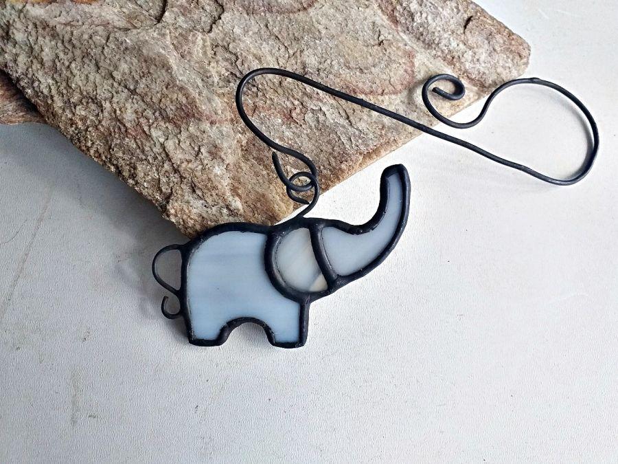 Zakładka do książki Słoń Tiffany - witraż słoń