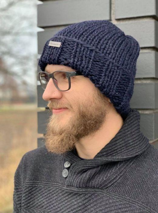 męska wełniana czapka
