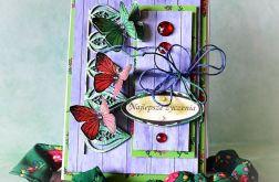 Kartka z zielonym motylem