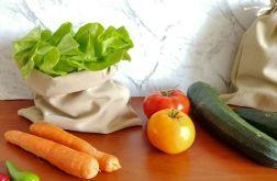 Worek na warzywa, 2 sztuki,BEŻOWY