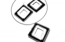 Zestaw biżuterii biało-czarne kwadraty