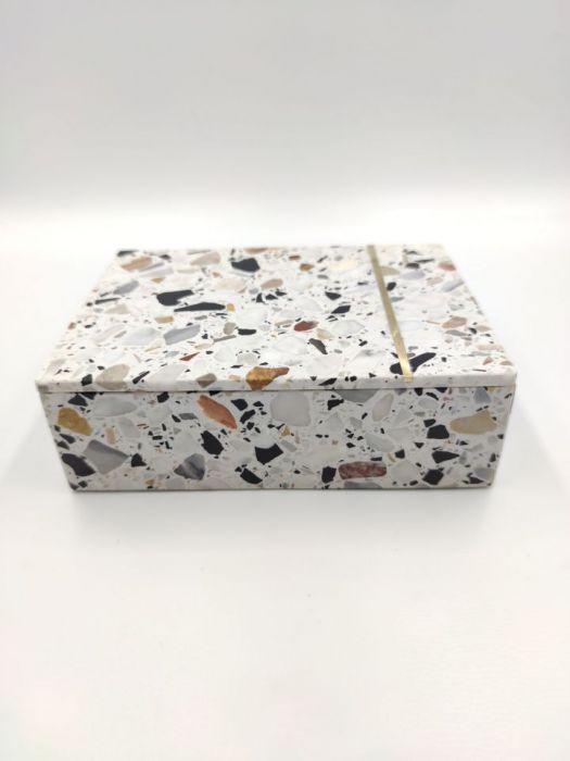 Szkatułka, pudełko, taca z kamienia Terrazzo -