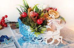 Pudełko na Boże Narodzenie z sankami+Gratis