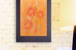 Rysunek z kwiatami na czarnym tle nr 4 szkic