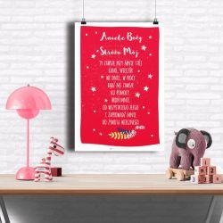 plakat Aniele Boży-50x70 CZERWONY