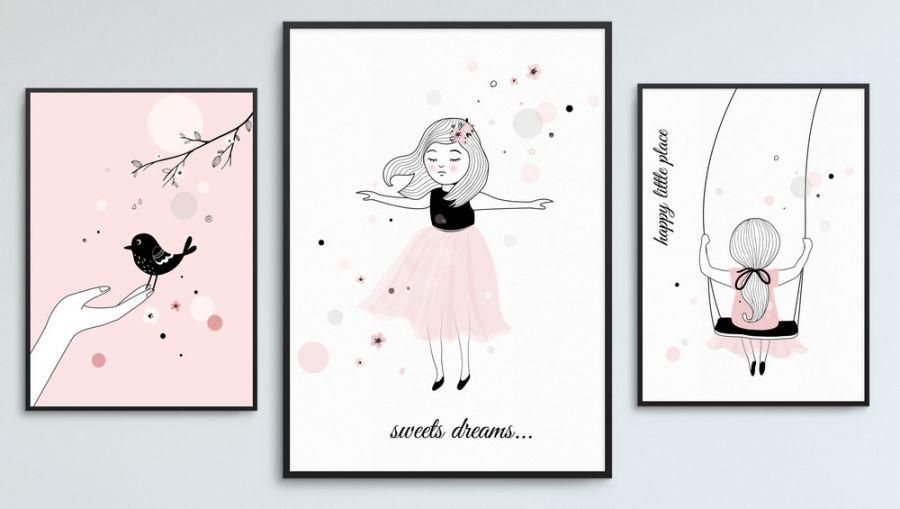 Plakaty Skandynawskie Dla Dziewczynki