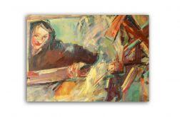 Dziewczyna w oknie, obraz olejny na płótnie
