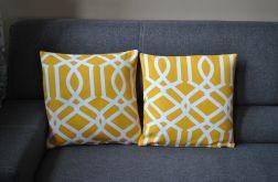 Poszewka dekoracyjna - żółte arabeski II