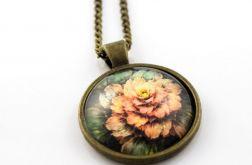 Medalion szklany kwiat