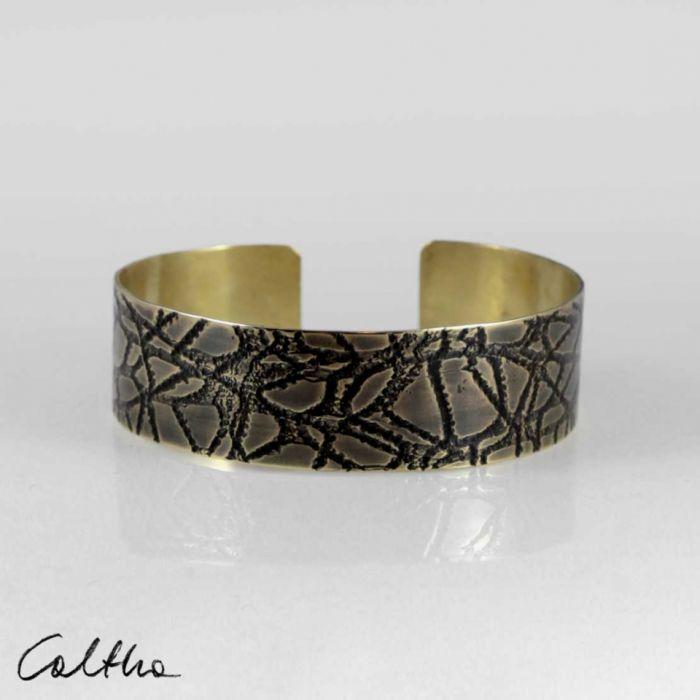 Pajęczyna – mosiężna bransoleta 2108-02