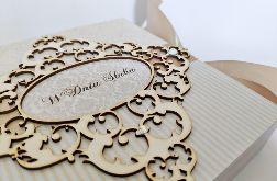 Kartka na ślub w beżach 02, prezent, pamiątka, pudełko