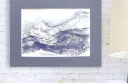 Szkic górski nr 5 - czarno biały rysunek