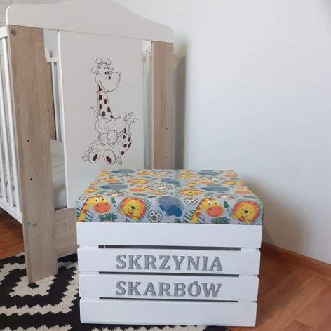 Skrzynia na zabawki z siedziskiem ZOO