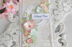 Ślubna kartka DL w pudełku 49