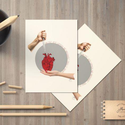 Kartka A5 Miłość jest