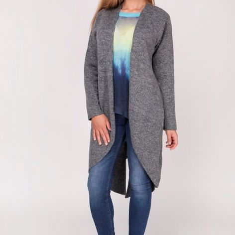 Kardigan długi sweter,frak rozpinany