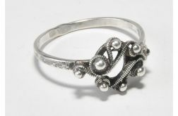 25 pierścionek vintage, śliczny, efektowny,