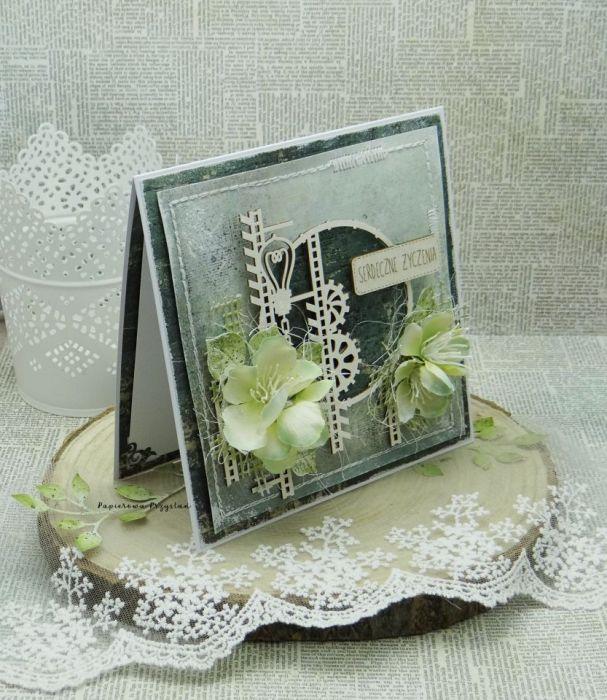 Serdeczne Życzenia- męska kartka z pudełkiem