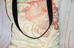 Torebka damska torba shopper kwiat eko dół