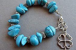 niebieskie bryłki - bransoletka