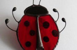 Biedronka Broszka witrażowa Tiffany owad