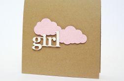 Narodzinowa kartka dla dziewczynki