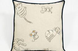 Kot i mysz - poduszka Canvas