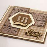 Kartka na 18. urodziny do koperty - Kartka na 18. urodziny