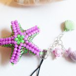Rozgwiazda z Morza Egejskiego - brelok wypleciony z koralików/beading