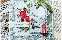 Zimowy domek - kartka bożonarodzeniowa