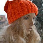 Pomarańczowa  czapka krasnal